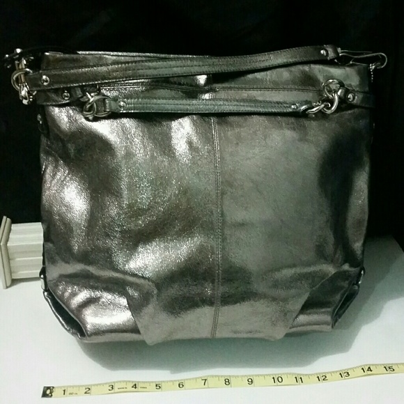 dc692563be4 Coach Bags   Stunning Large Leather Brooke Hobo Silver Pewter   Poshmark
